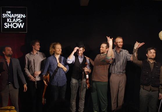 Improtheater Bühne Synapsenklaps, YouTube Live Show Dreh